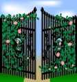 gates and roses vector image
