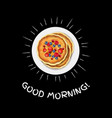 good morning banner vector image vector image