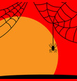 halloween spider sign with sun 109 vector image