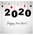 happy new years card with new year balls vector image vector image