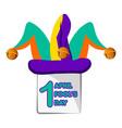 harlequin hat april fool day vector image