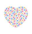 heart of padlocks keys in heart shape vector image vector image