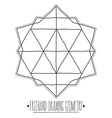 Hollow geometric figures and elements with lines vector image vector image