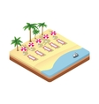 isometric seascape beach vector image vector image