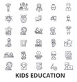 kids education learning education background vector image