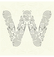Letter W Golden Monogram Design element vector image vector image