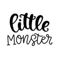 little monster halloween poster vector image vector image