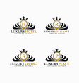 luxury place logo template vector image vector image