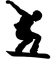 male athlete snowboarder vector image vector image