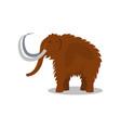 mammoth extinct animal of stone age vector image vector image