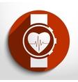 medical watch web icon vector image