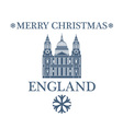 Merry Christmas England vector image vector image