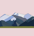 mountains with falling snow vector image vector image