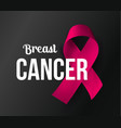 october awareness month symbol breast cancer vector image