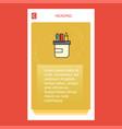 pencil box mobile vertical banner design design vector image vector image