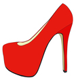 Pretty womens shoes vector image vector image