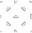 rainy cloud pattern seamless black vector image vector image