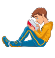 Reading student vector image vector image