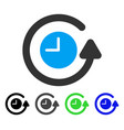 restore clock flat icon vector image vector image