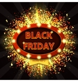 Retro backdrop with glowing lamps for Black friday vector image vector image