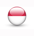 Round icon with national flag of Indonesia vector image vector image