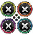 round X buttons vector image
