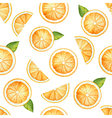 Seamless pattern watercolor fruit orange vector image vector image