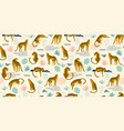 seamless pattern with leopards and tropical vector image
