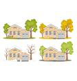Seasons-house vector image vector image