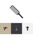set of 4 editable barber icons includes symbols vector image vector image
