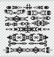set of tribal tattoos elements in black color for vector image