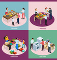 sharing economy design concept vector image