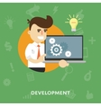 Showing concept of new development ideas vector image