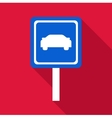 Sign car icon flat style vector image vector image