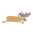 sleeping deer wild animal sleeps sleepy moose vector image