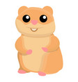 smile hamster icon cartoon style vector image