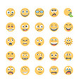 smiley flat icons set 4 vector image vector image
