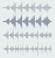 sound waves set Audio equalizer technology pulse vector image vector image