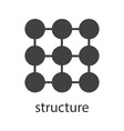 structure symbol glyph icon vector image vector image