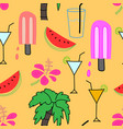 summer pattern background vector image vector image