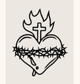 the sacred heart of the lord jesus vector image vector image
