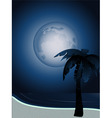 tropical full moon vector image vector image