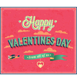 valentines day typographic design vector image