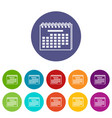 year calendar icon simple style vector image vector image