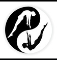 Yin Yang Male and Female symbol Concept vector image vector image