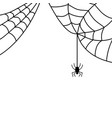 halloween spider sign with web 109 vector image