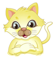 A yellow cat vector image
