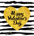 happy valentine day hand drawn card vector image