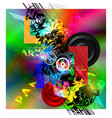 abstract musical party vector image vector image