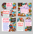 back to school tag and label for sale design vector image vector image
